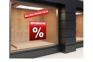 Aufkleber Ausverkauf