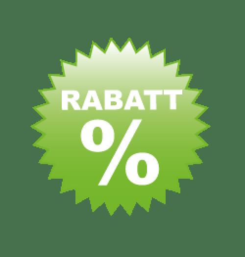 Rabatt grün Format 60 x 60 cm