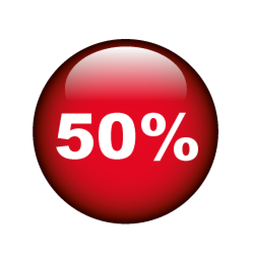 50% Format 60 x 60 cm
