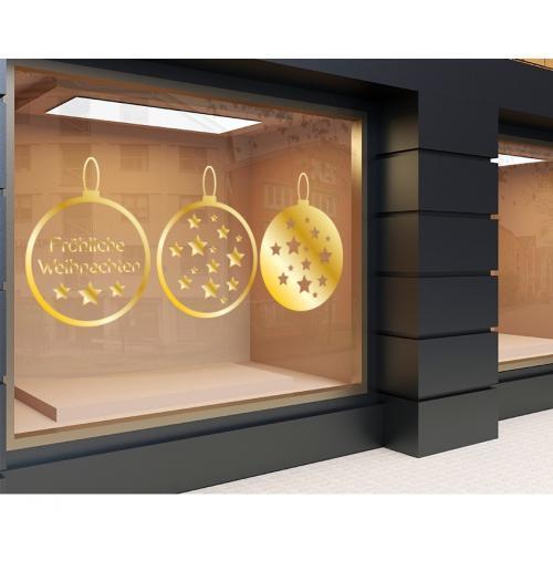 Plott gold 120 x 50cm Weihnachten Set 4