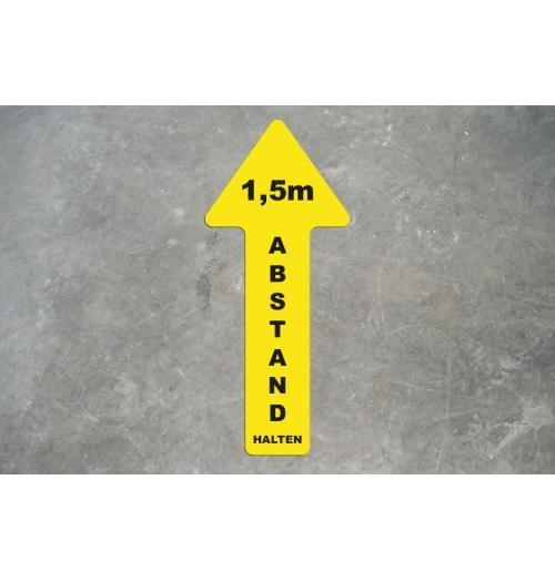 Bodenfolie 70x30cm Abstand halten