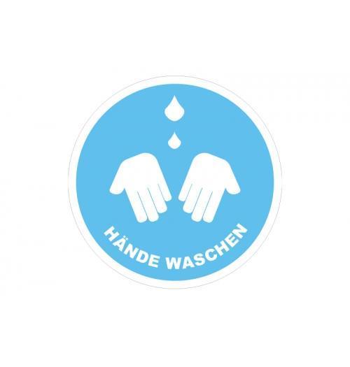 Klebefolie 15x15cm Hände waschen