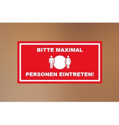 Klebefolie 30x15cm Max Personen rot