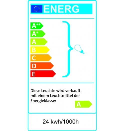 Ruhrgebiet beleuchtet Edelstahloptik 100 x 25cm