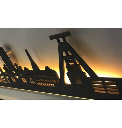 World beleuchtet Edelstahloptik 100 x 25cm