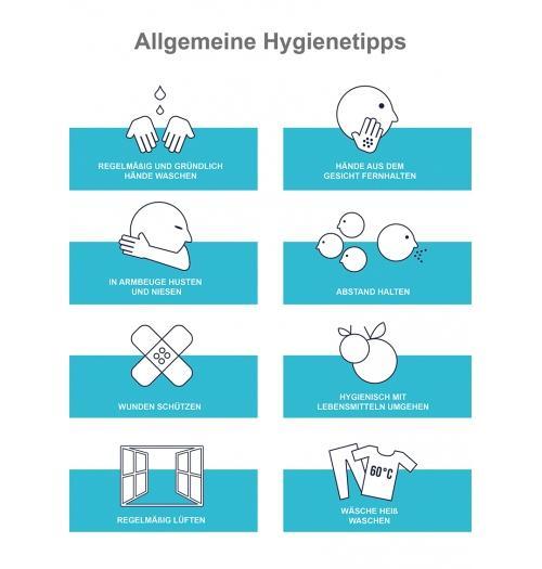 Klebefolie Hygienetipps A1