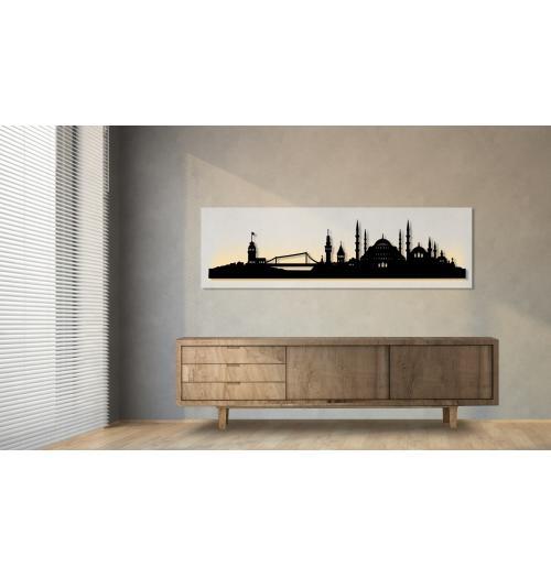 Istanbul beleuchtet weiß 100 x 25cm