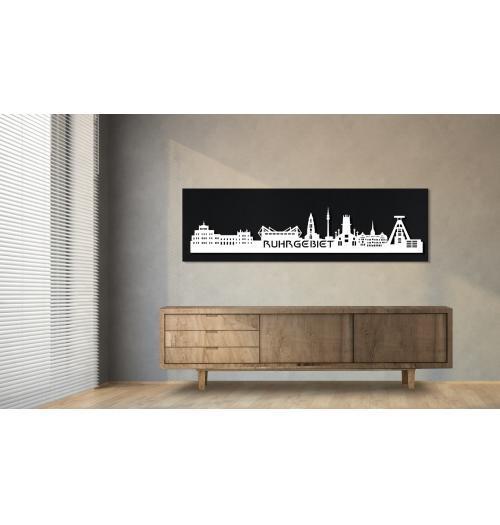 Ruhrgebiet schwarz 100 x 25cm