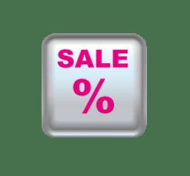 Sale Button 40 x 40 cm