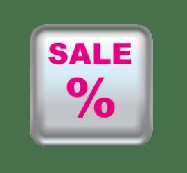 Sale Button 50 x 50 cm