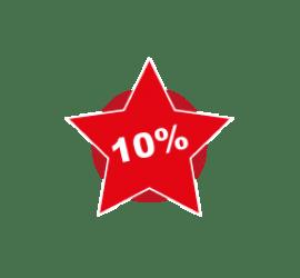 10% Format Stern 40 x 40 cm