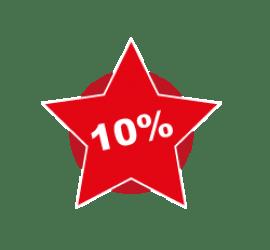 10% Format Stern 50 x 50 cm
