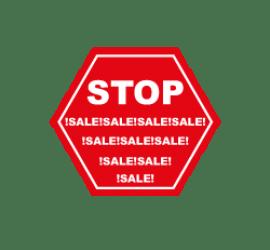 Stop Sale Format 40 x 40 cm