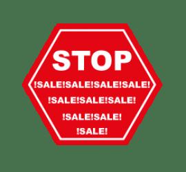 Stop Sale Format 50 x 50