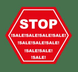 Stop Sale Format 60 x 60 cm