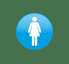 WC Frau Format rund 40 x 40 cm