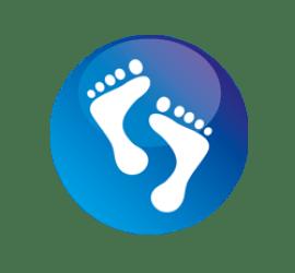 Füße Format 90 x 90 cm