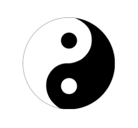 Ying & Yang Format 60 x 60 cm