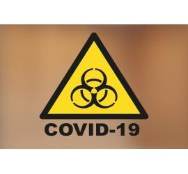 Klebefolie 10x10 Covid-19