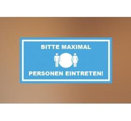 Klebefolie 30x15cm Max Personen blau