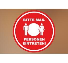 Klebefolie 20x20cm Max Personen rot