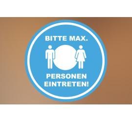 Klebefolie 20x20cm Max Personen blau