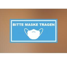 Klebefolie 30x15cm Maske tragen blau