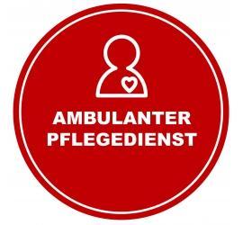 Haftfolie 'Ambulanter Pflegedienst' 40 x 40 cm