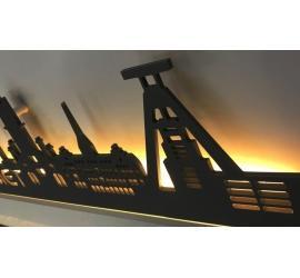 Dresden beleuchtet Goldoptik 100 x 25cm