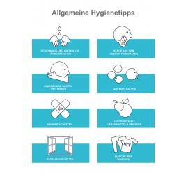 Transparente Klebefolie Hygienetipps A3