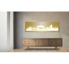 Berlin beleuchtet Goldoptik 100 x 25cm