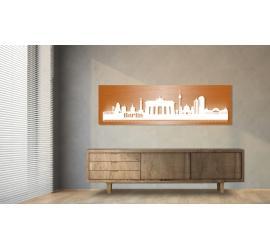 Berlin beleuchtet Kupferoptik 100 x 25cm