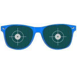 Partybrille blau