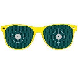Partybrille gelb