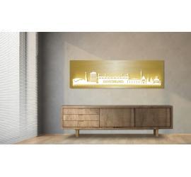 Dortmund beleuchtet Goldoptik 100 x 25cm