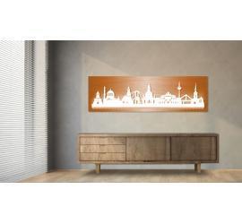 Dresden beleuchtet Kupferoptik 100 x 25cm
