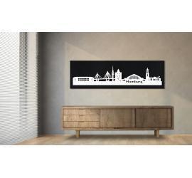 Hamburg schwarz 100 x 25cm