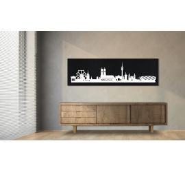 München schwarz 100 x 25cm
