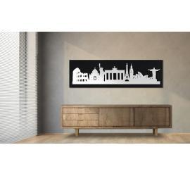 World schwarz 100 x 25cm